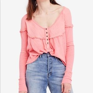 🌸New🌸 Free People XS Long Sleeve Henley Top NWT